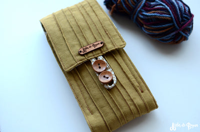 knitting needle case by atelier de soyun