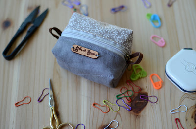 Keep your mini notion in safe in mini notion box pouch/ Gentle Grey