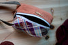 Compact Knitting Project bag that sock knitters must-have/ Autumn Brown