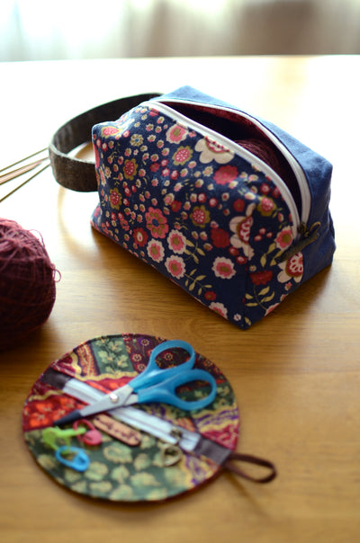 Knitting Project Bag with handle