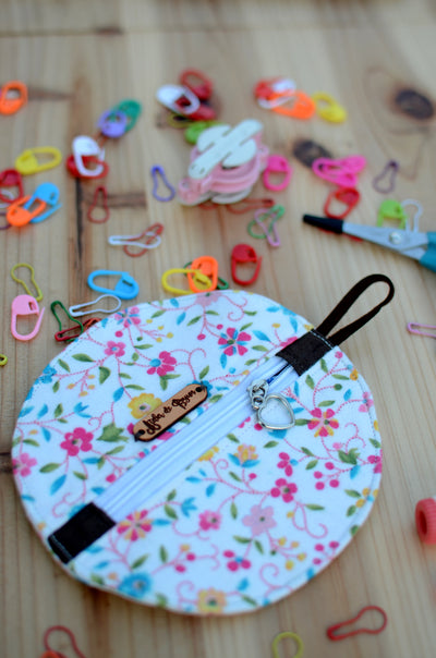 Mini zipper case/ Perfect for gift exchange, stocking stuffer, and self-gifting/ Flower Power