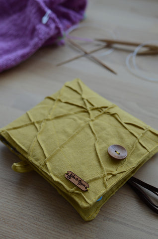 one of a kind handmade knitting project bag for beginners