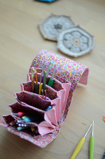 Incredibly smart crochet hook storage idea!