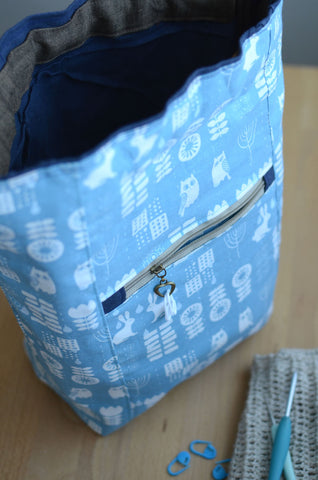 one of a kind knitting project bag for beginners