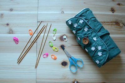 DPN knitting needle organizer in Spring Green