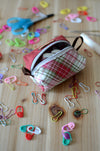 Perfect stitch marker/ progress keeper/ mini scissors pouch / Holiday check