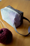 Compact project bag for small knitting crochet project