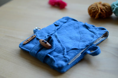 interchangeable knitting needle case by atelier de soyun.