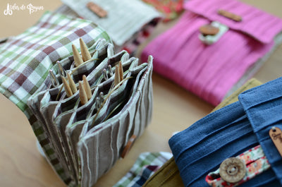 Unique Interchangeable knitting needle organizer for full needle set