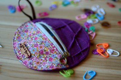 Mini Project Pouch for knitters and crocheters/ Little something for your notions