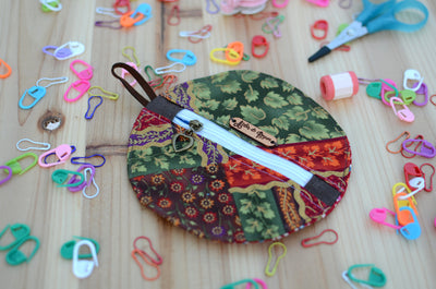Mini zipper case/ Perfect for gift exchange, stocking stuffer, and self-gifting/ Festive Holiday