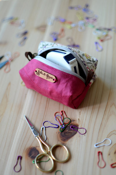 Mini Notion Box for all your knitty essentials/ Festive Burgundy