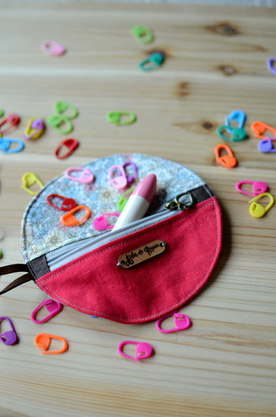 Mini Project notion Pouch for knitters and crocheters