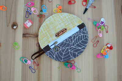 Mini zipper case/ Perfect for gift exchange, stocking stuffer, and self-gifting/ Woven Gold