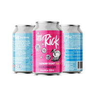 12 x Little Rick 32mg CBD Sparkling 330ml Raspberry Coconut Drink