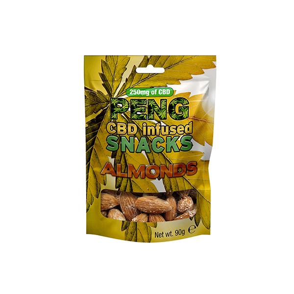 Peng 500mg CBD Infused Snacks - Almonds