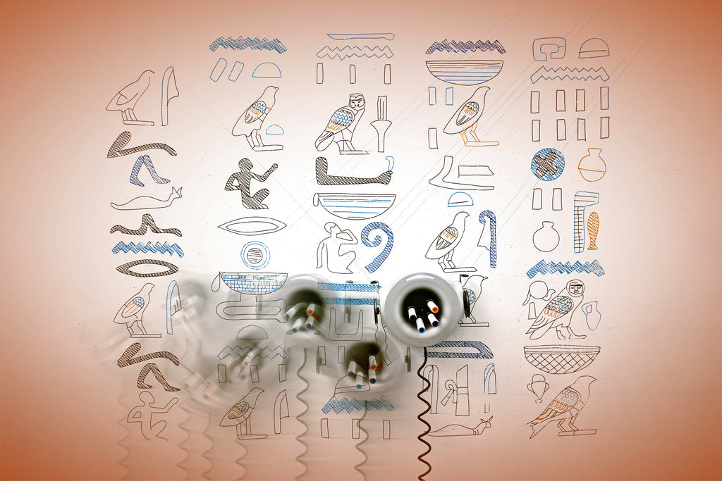 Scribit allows to reproduce ancient Egyptian masterpieces directly to your wall