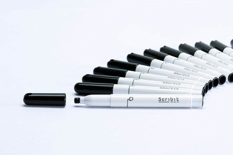 24 Whiteboard Black Markers