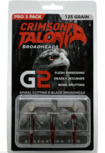 Load image into Gallery viewer, CRIMSON TALON G2 BROADHEAD 125 GRAIN