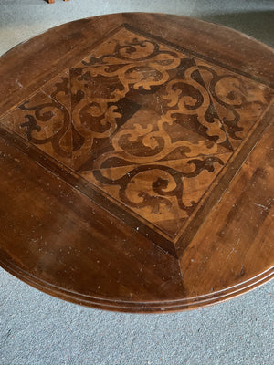 Vere Antichita Positano Round Inlay Pedestal Coffee Table by Artitalia - Grand Expressions Gallery and Home Store