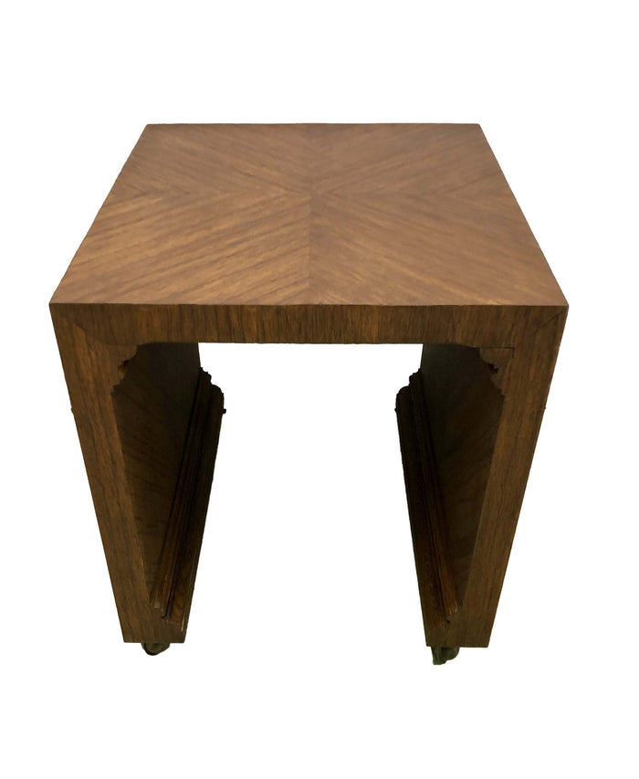 Zebra Wood Accent Table by Baker Furniture