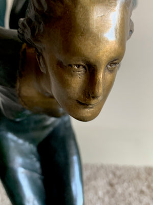 Spirit Of Ecstasy by Charles Sykes Rolls Royce Bronze Emblem - Grand Expressions Gallery and Home Store