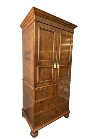 Yorkshire House Burled Wood Tall Armoire - Grand Expressions Gallery and Home Store