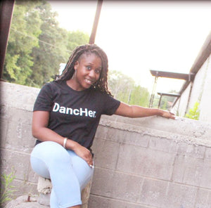 DancHer. (Black) Unisex T-Shirt