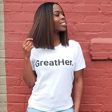 GreatHer. (White) Unisex T-Shirt