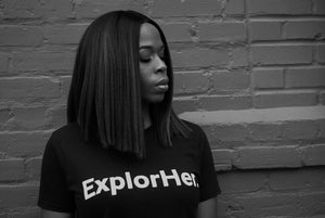 ExplorHer. (Black) Unisex T-Shirt