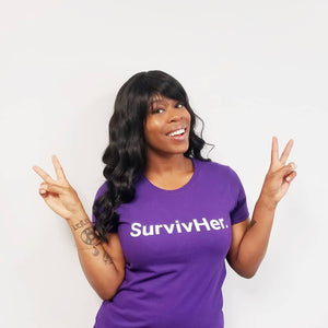 SurvivHer. (Domestic Violence) Women's T-Shirt