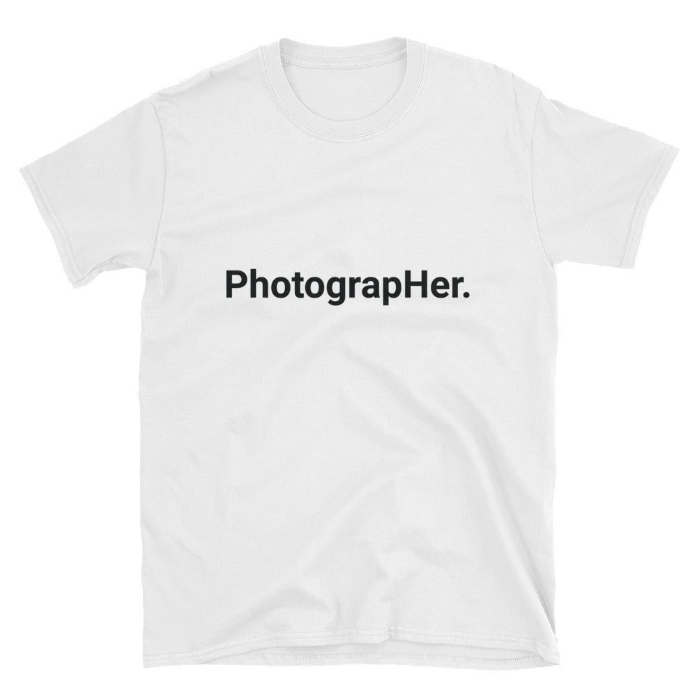 PhotograpHer. (White) Unisex T-Shirt