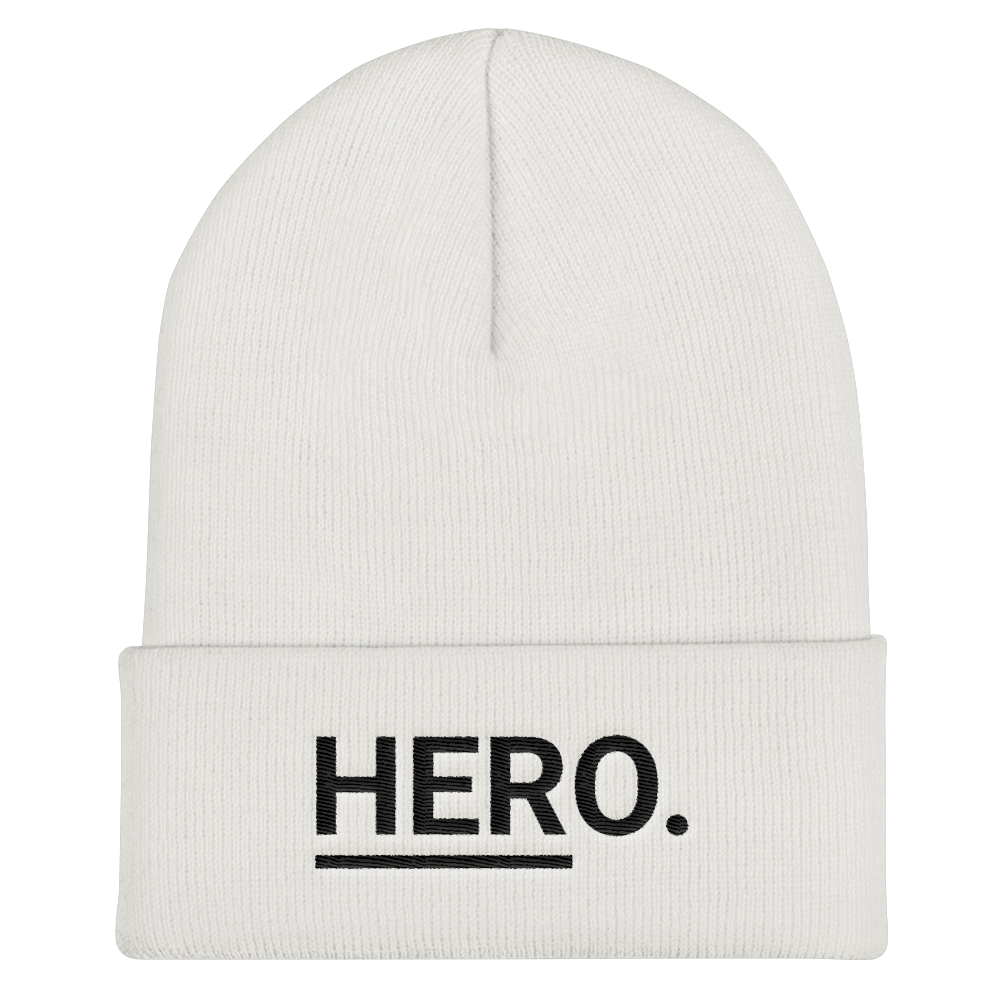 HERo. Cuffed Beanie (White)