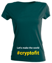 Laden Sie das Bild in den Galerie-Viewer, Let's make the world #cryptofit (women's)