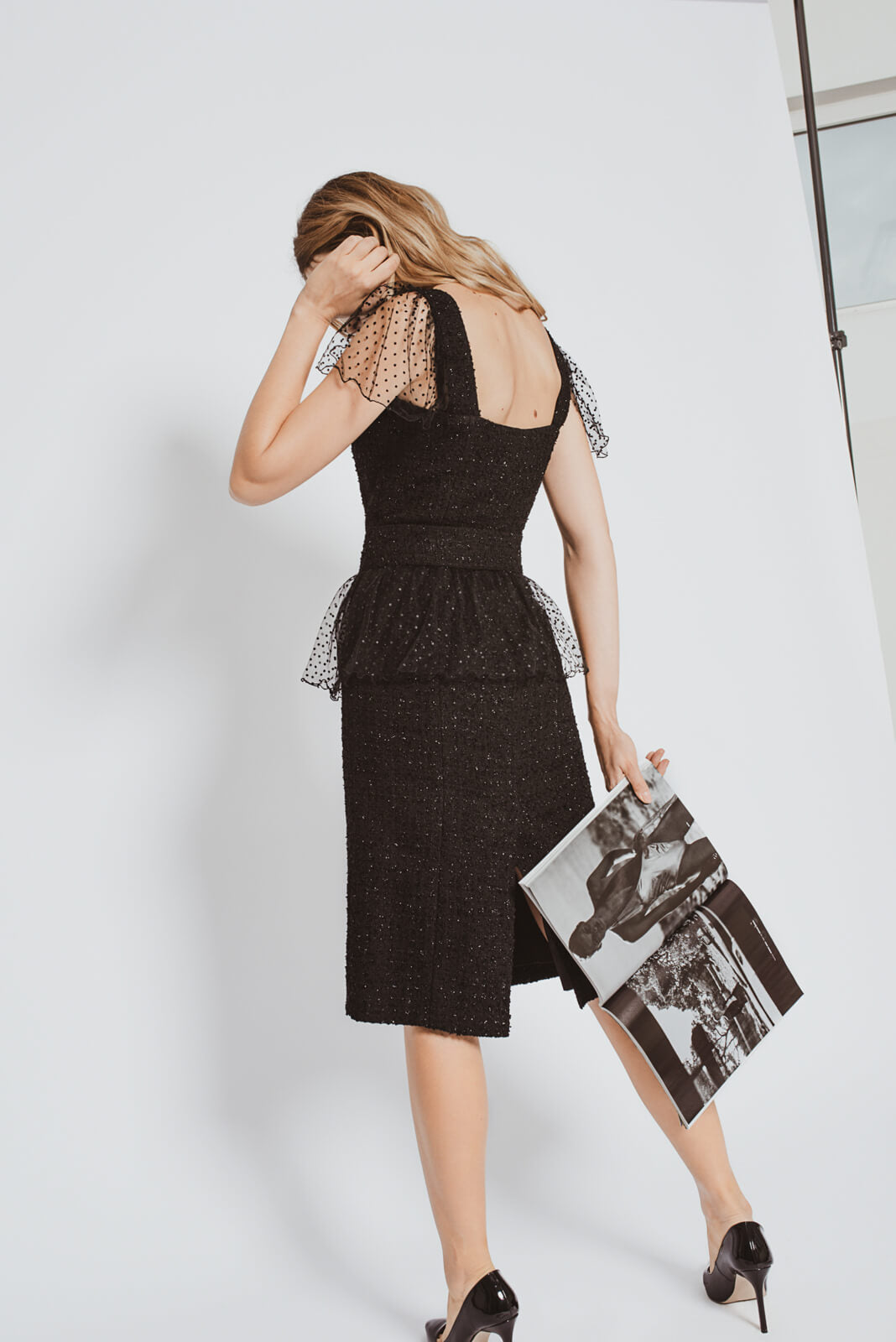 Black tweed dress MiaGiacca