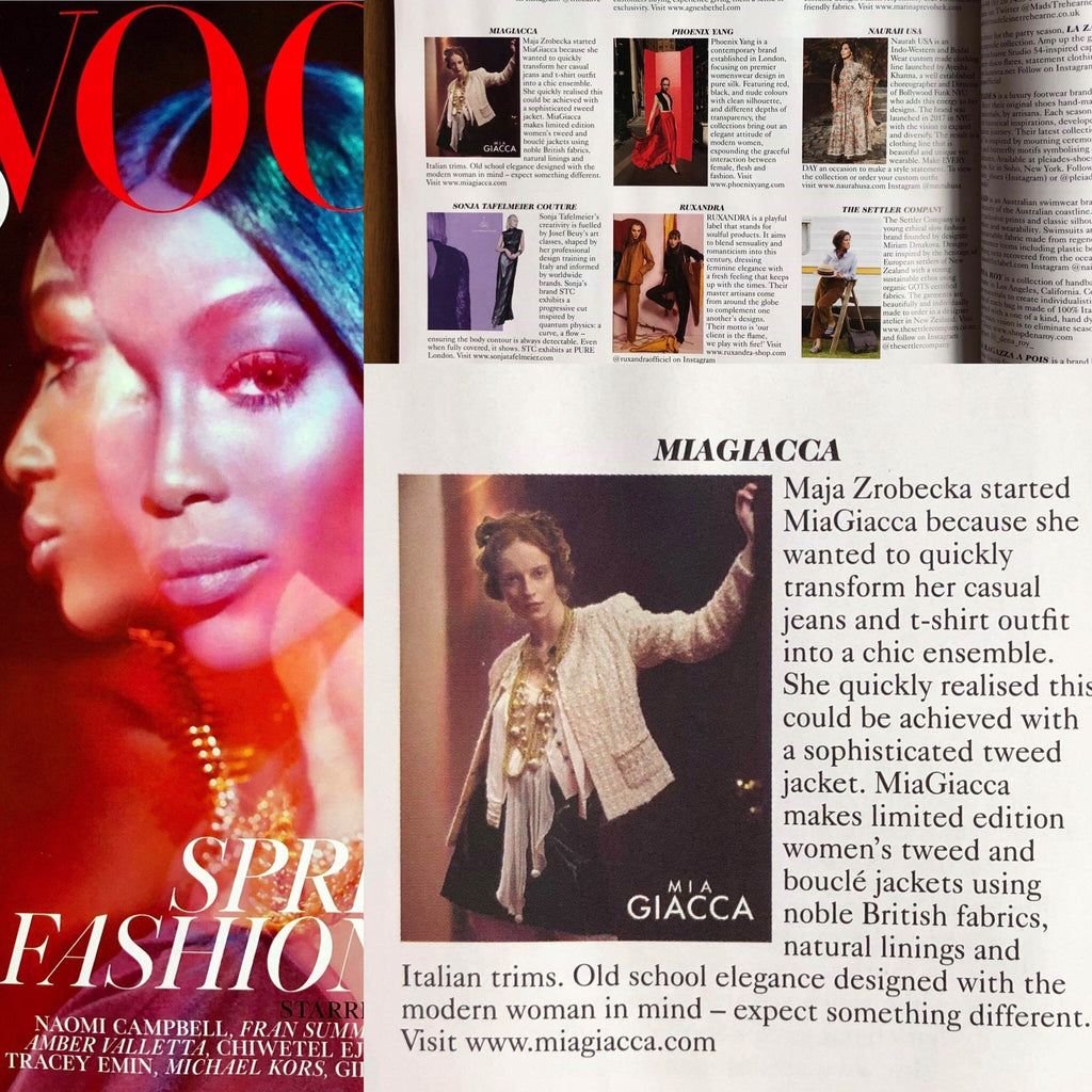 From one jacket to British Vogue - the success of MiaGiacca