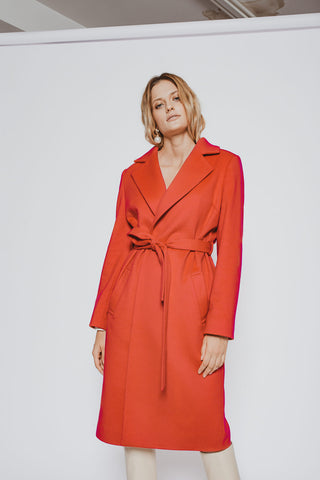 Orange wool coat MiaGiacca