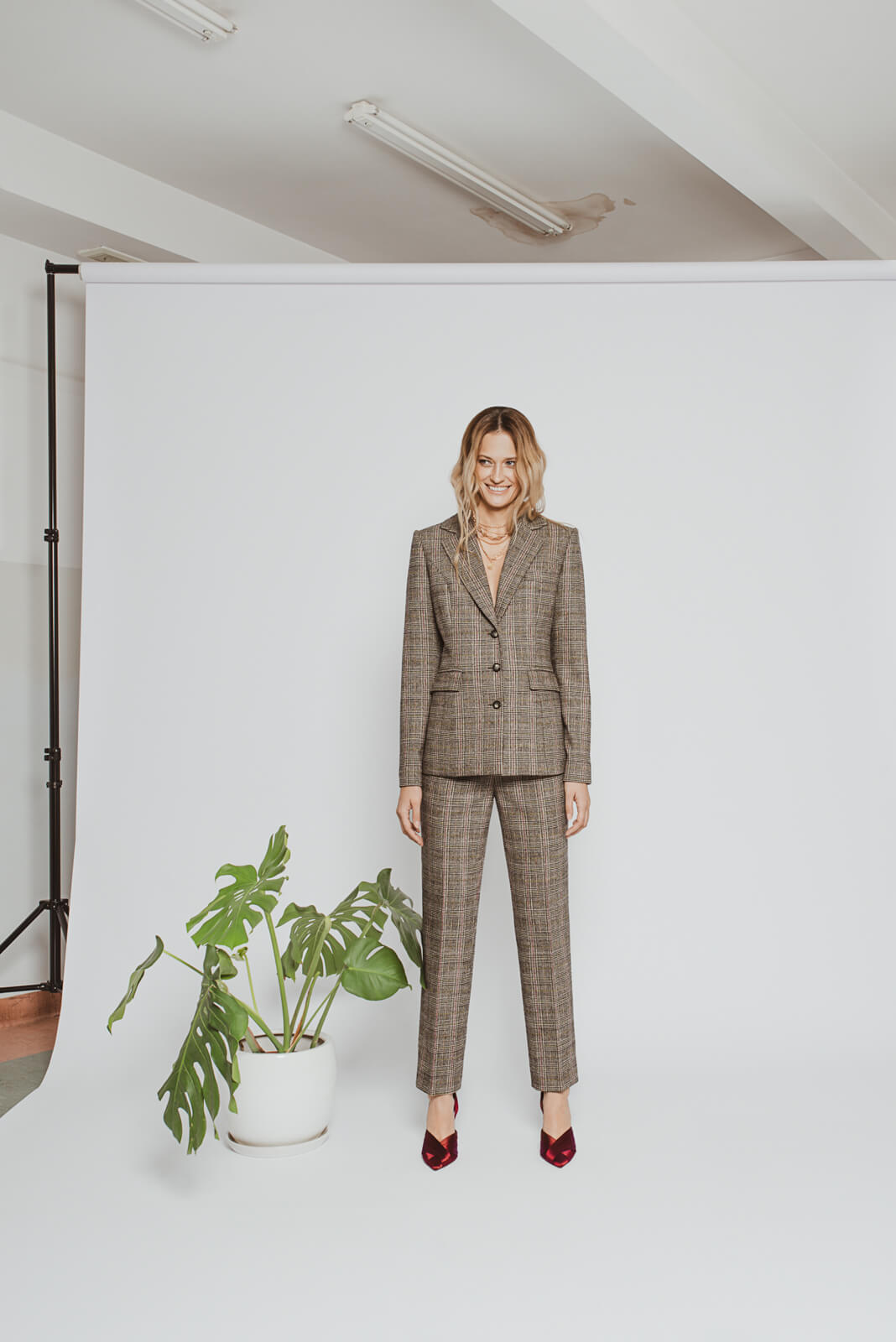 Checked wool suit MiaGiacca