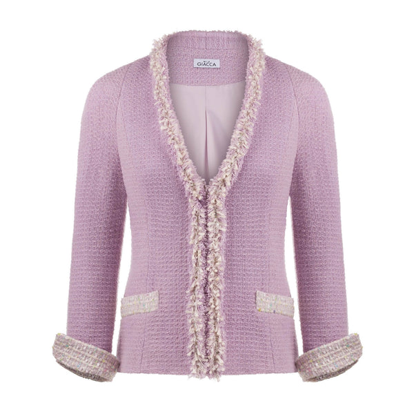 'Boca' lilac-pink boucle jacket SAMPLE SALE