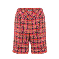 'Flame' tweed shorts