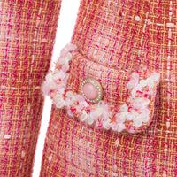 'Eden' luscious peach tweed blazer