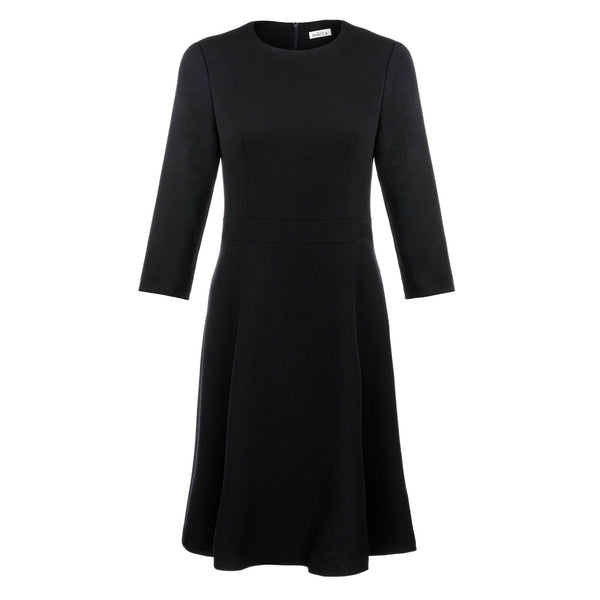 'Leticia' Dress Navy Wool Crepe