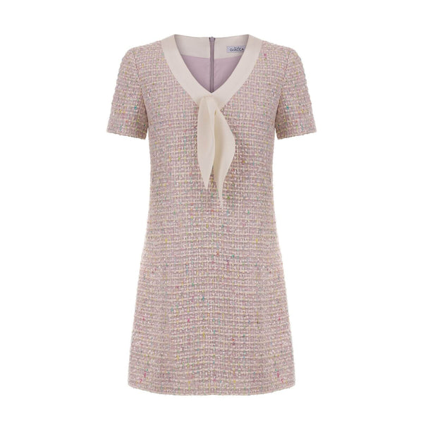 'Lily' pale lilac tweed dress SAMPLE SALE