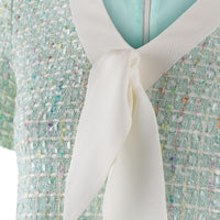 'Lily' mint tweed dress