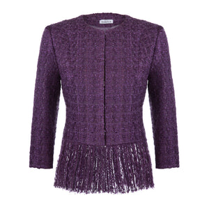 'Sophie' Ultra violet tweed skirt suit
