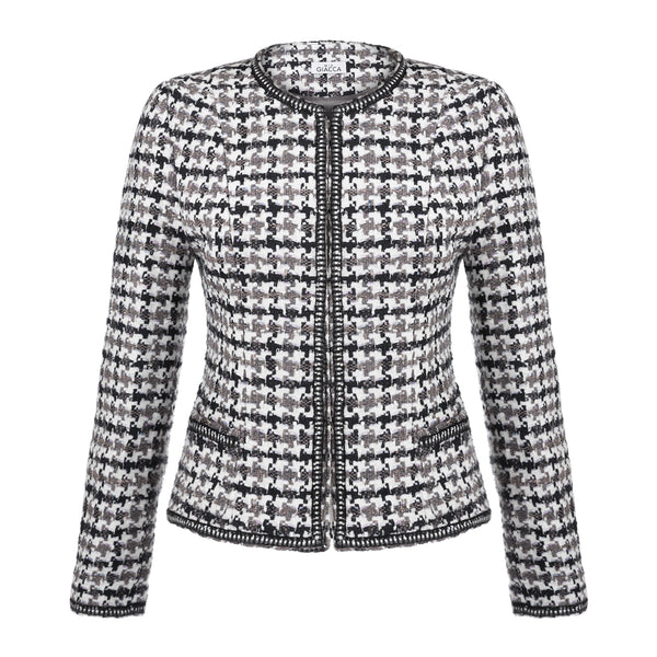 'Maria' houndstooth tweed jacket SAMPLE SALE