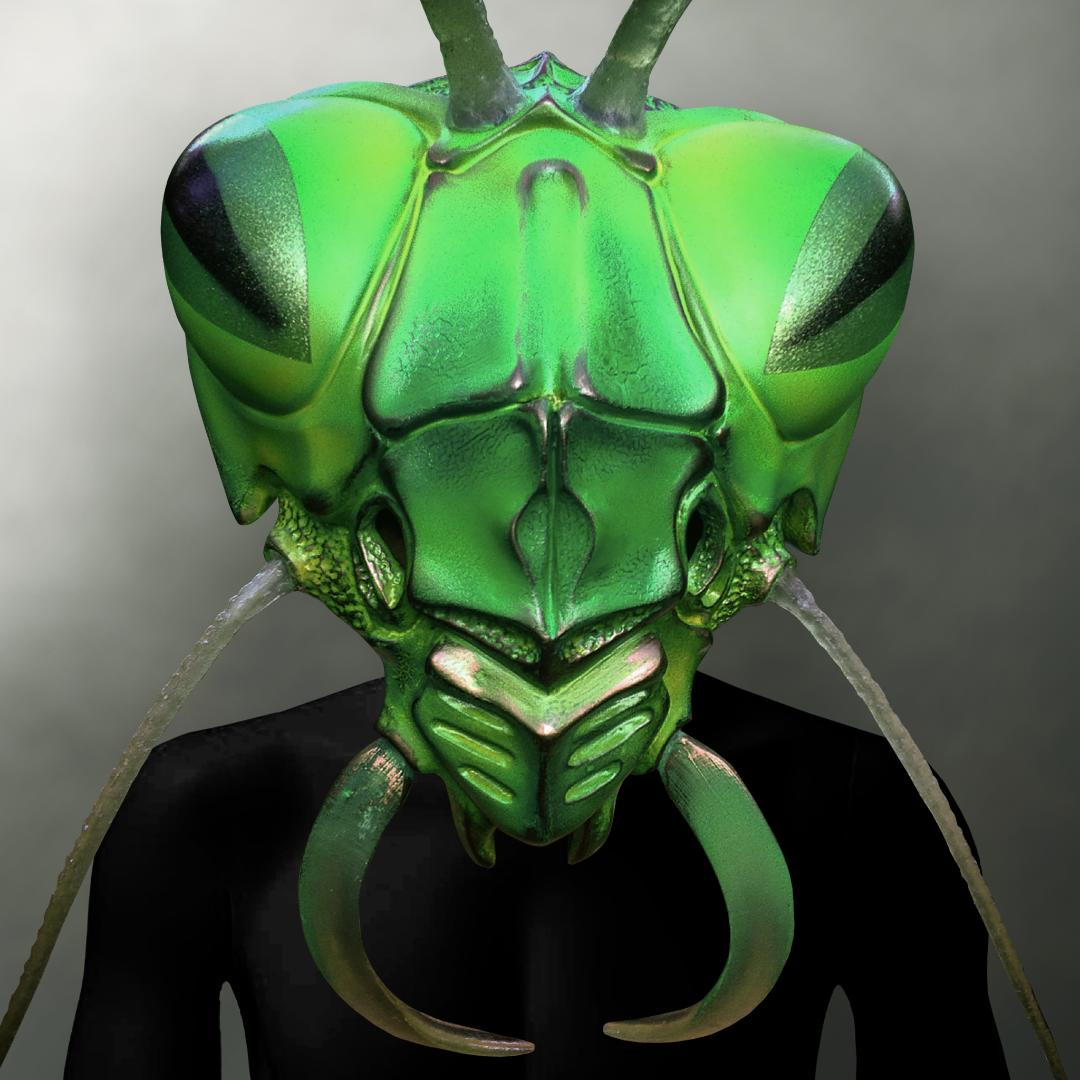 Human Canvas Prey Mantis (Stage Prop) Touring Handmade Mask