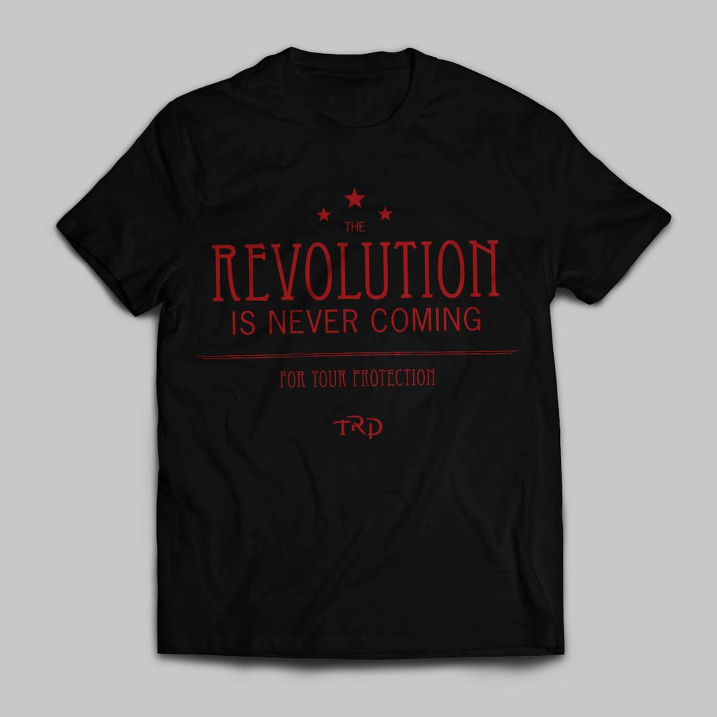 Black Revolutions Text Shirt