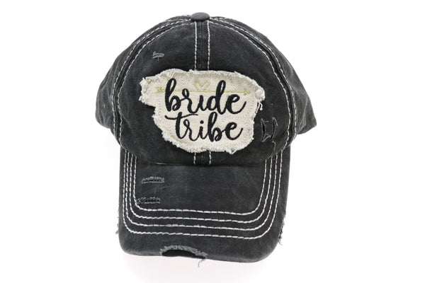 Distressed Bride Tribe Patch CC Ball Cap