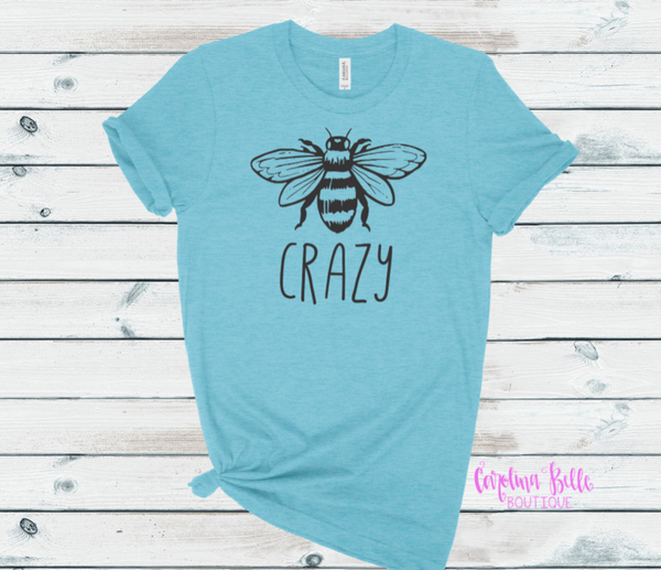 Bee Crazy Graphic Tee